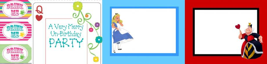 Alice in Wonderland Free printables group image