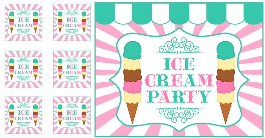 Ice Cream Party FREE PRINTABLES  Tickled Pink Party Ideas