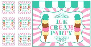 Ice Cream Girls Party Free Printables group