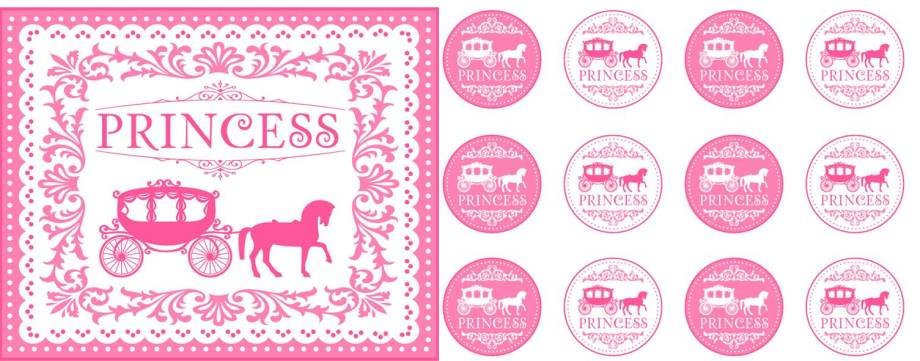 Princess party free printables group