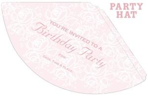 Princess Party Hat Invitation