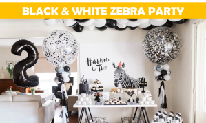 Black & White zebra party Icon