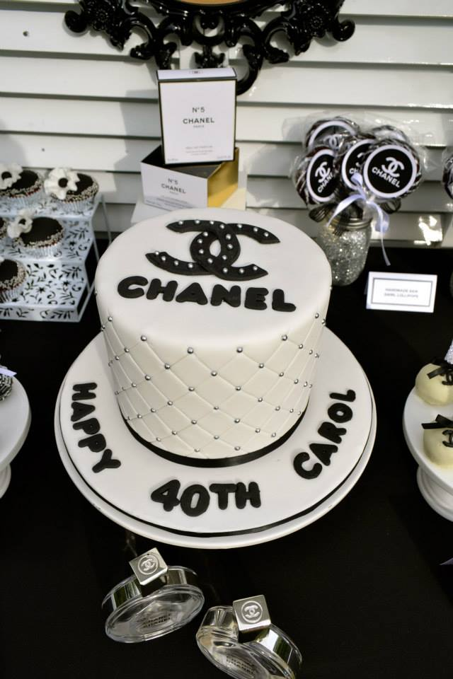 Chanel Themed 40th Birthday Party Tickled Pink Party Ideas