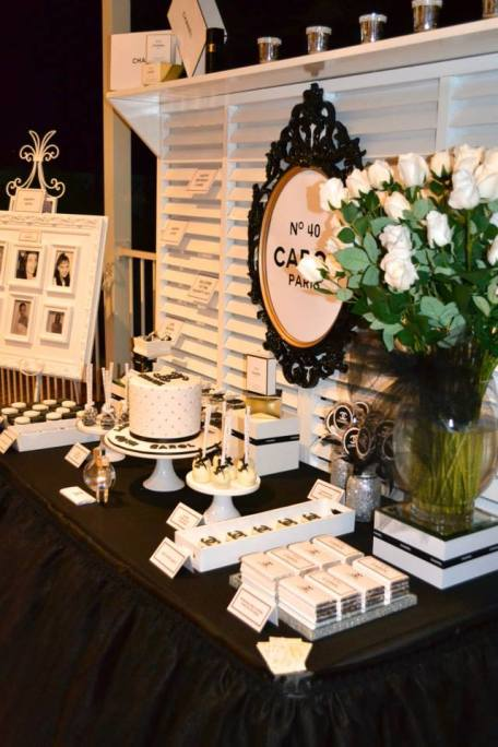 Chanel themed party table 3