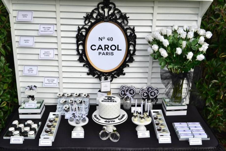 Chanel themed party table