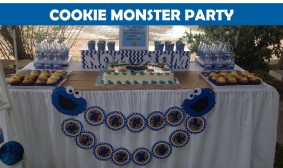 Cookie Monster Sesame street party ICON