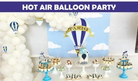Hot Air Balloon Party Icon