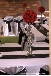 Party Centrepiece Candelabra black red