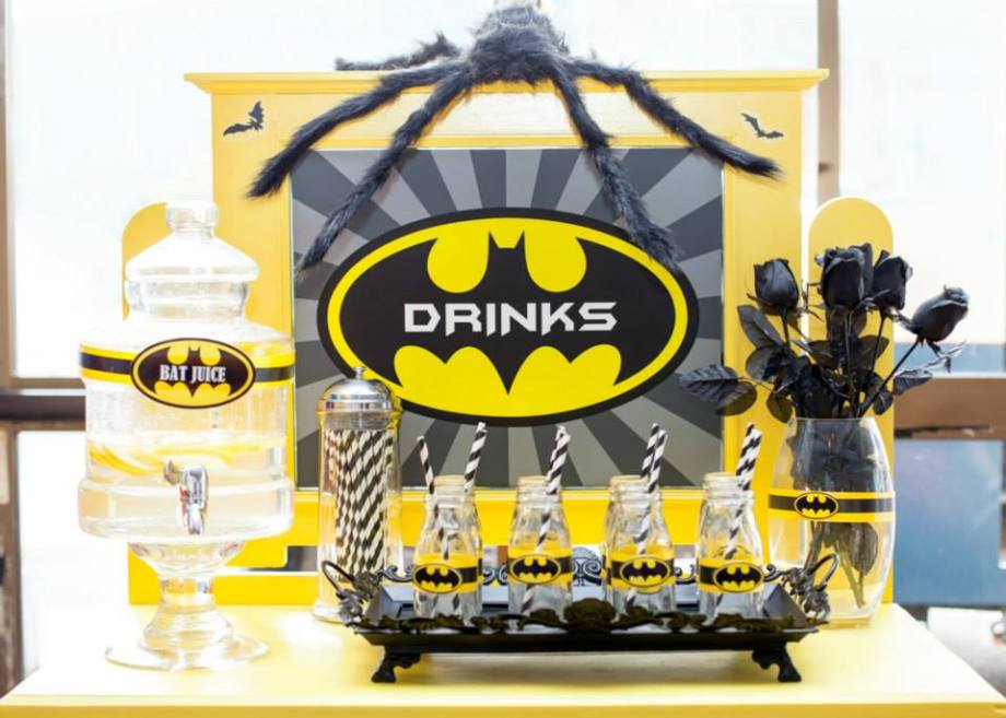 Superheros Party-Batman drinks 2