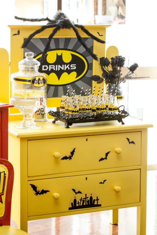 Superheros Party-Batman drinks