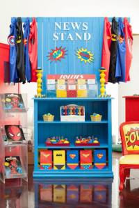 Supherheros Party-shelves with lollies