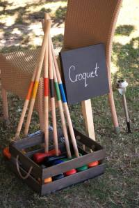 Vintage croquet party game wedding