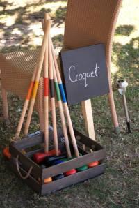 Vintage croquet party game wedding