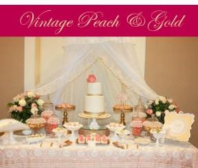 Vintage Peach & Gold Baby Shower icon