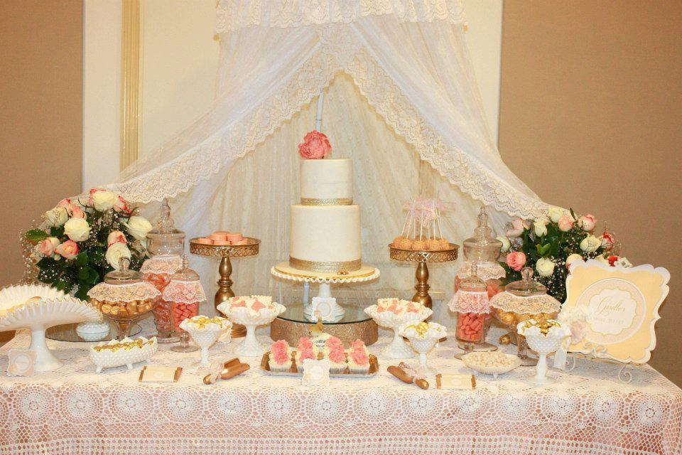 peach white gold baby shower tickled pink party ideas