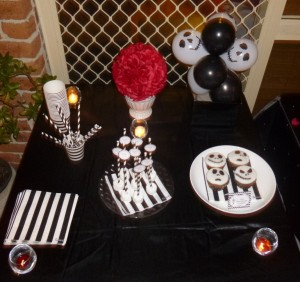 Black and white nightmare before christmas party decorations