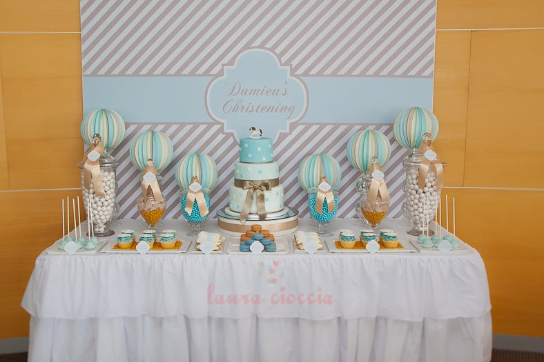 Blue & White Christening-party