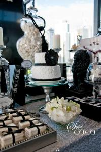 Candy & dessert buffet-black and white7