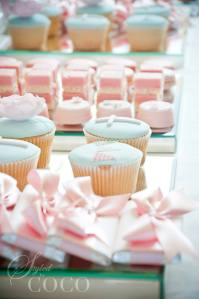 Christening chocolates and cupcakes