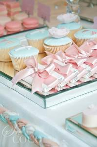 Party table chocolates & cupcakes-christening