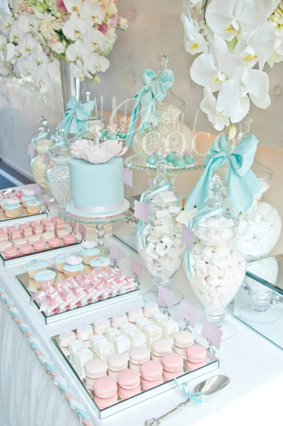 Pastels Blue Christening party table2