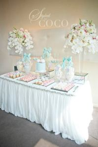 Pastels Blue Christening party table3