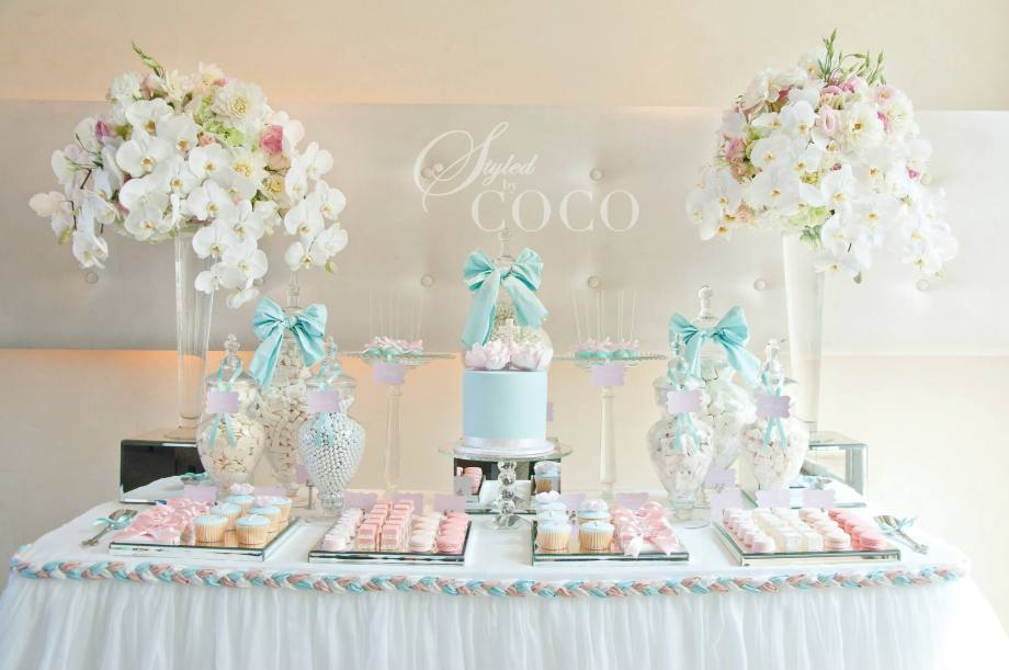 Pastels Blue Christening party table4