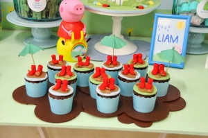 Peppa Pig Party-cupcakes