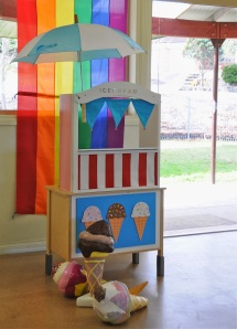 Peppa Pig Party-ice cream stand