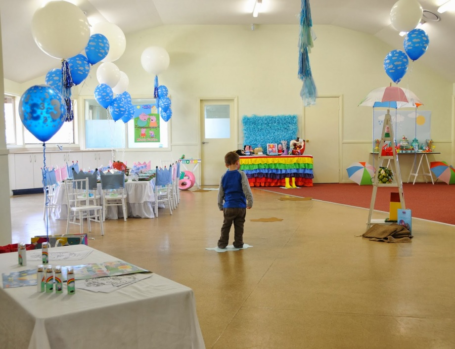 Peppa Pig Party-venue set up