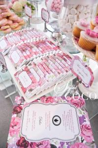 Pink kitchen tea chocolates lolly buffet