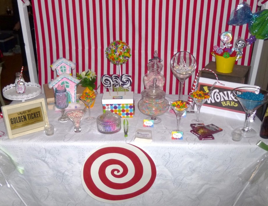 Willy Wonka Party Candy Table 2
