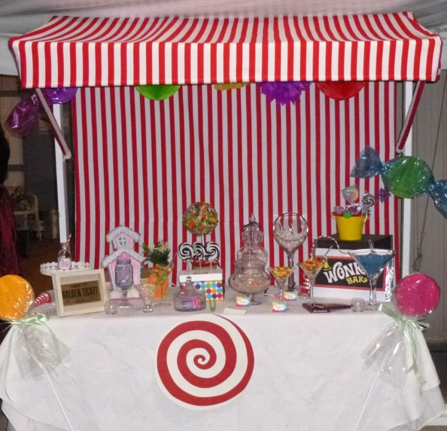 Willy Wonka Party Candy Table