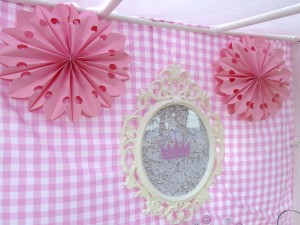 Princess Party backdrop baroque frame