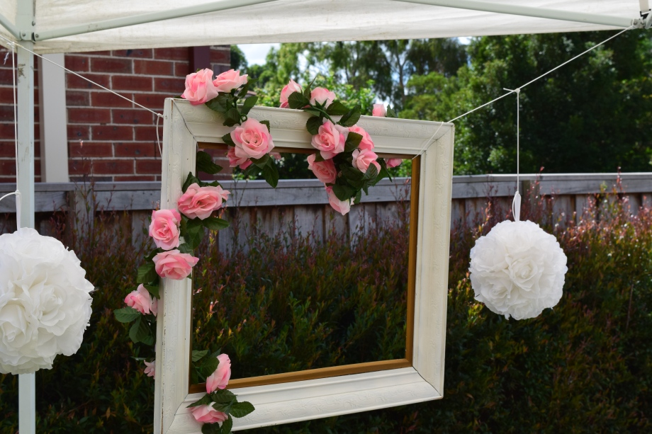 Vintage photo booth frame floral