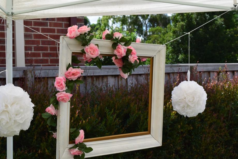 Vintage photo booth frame floral