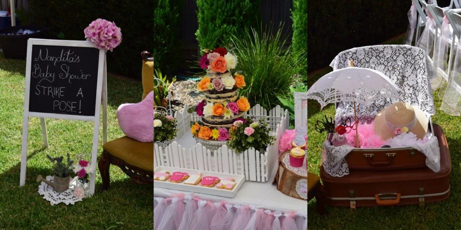 Enchanted garden baby shower group2