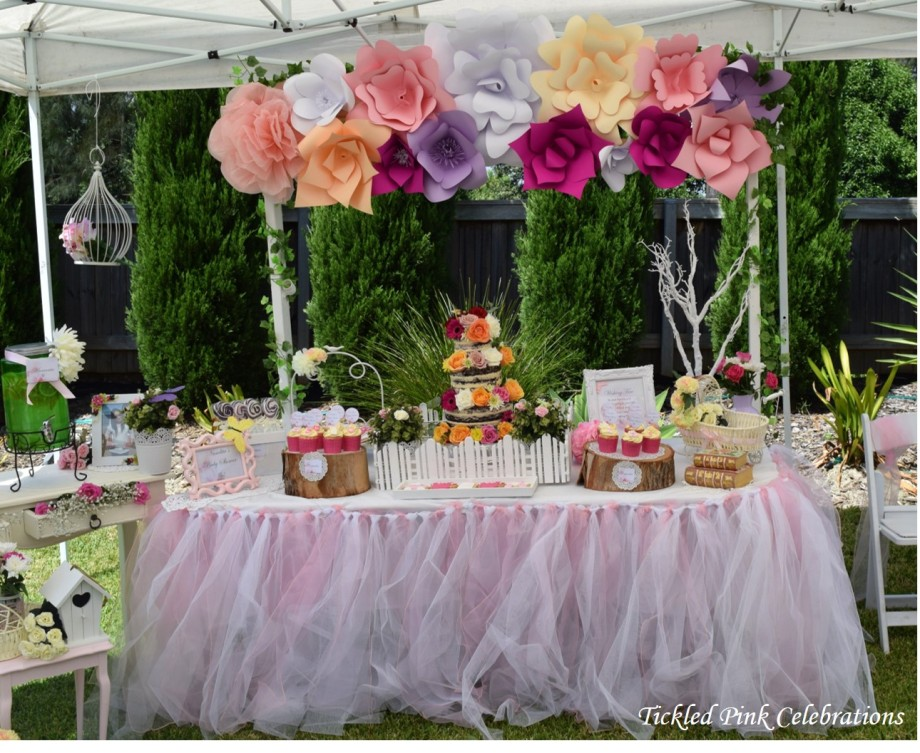 Garden floral baby shower-tutu skirt garden party