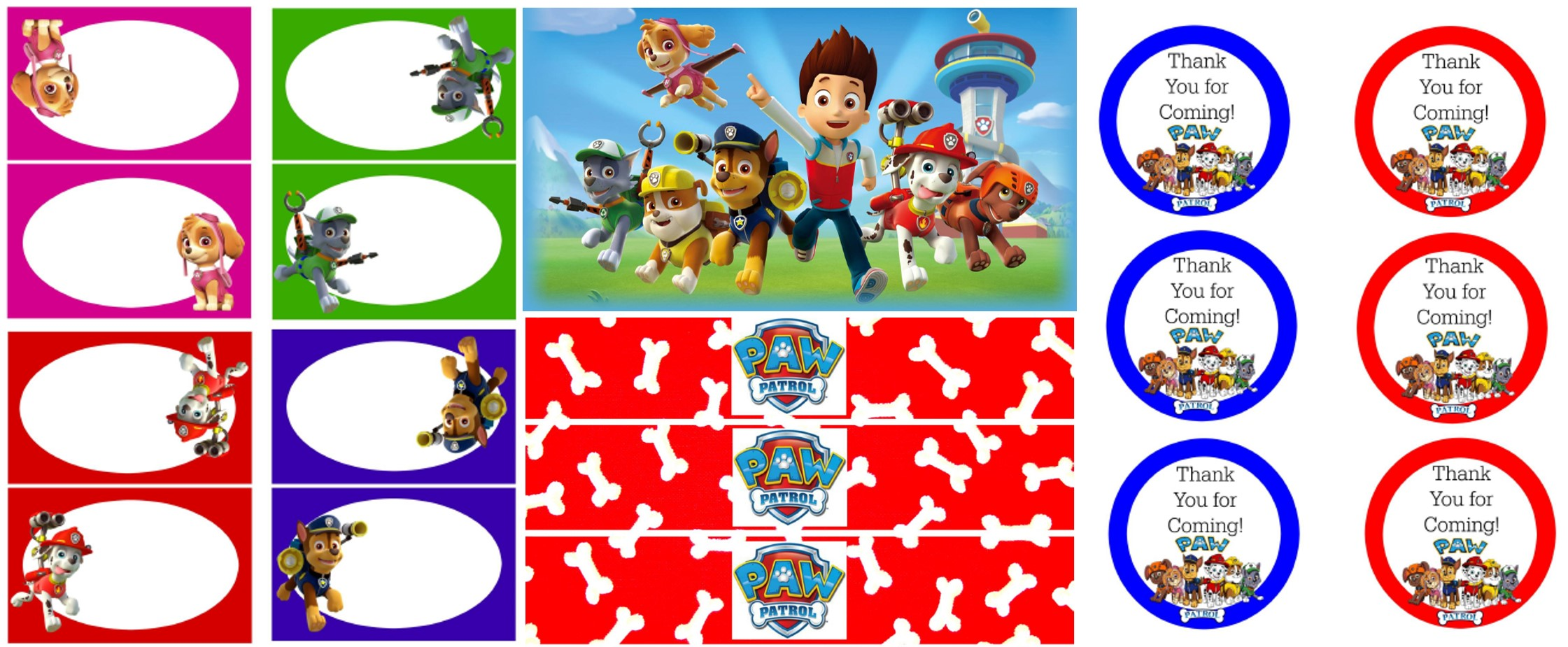 Paw Patrol Party Free Printables Tickled Pink Party Ideas