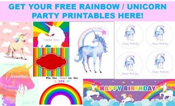 Unicorn Party Printables
