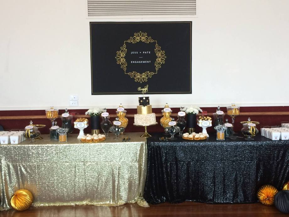 black-and-white-lolly-buffet-engagement-party