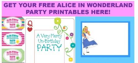 Alice Party Printables