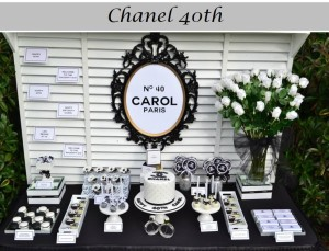 Chanel Themed 40th Birthday Party