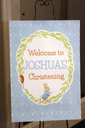 Peter Rabbit themed party Christening10