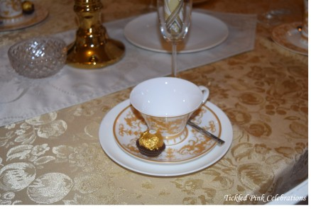 Boho Gold White Baby Shower High Tea table2