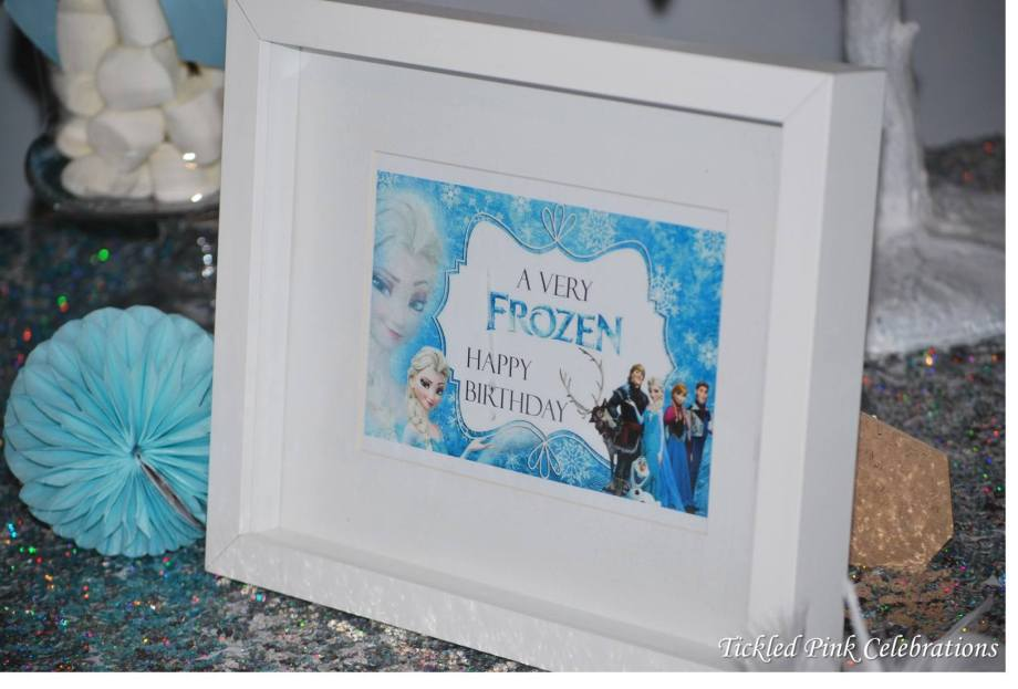 Frozen Party table signage