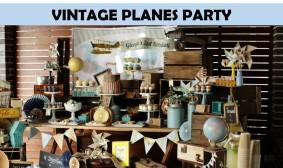 Vintage Planes Boys Party icon