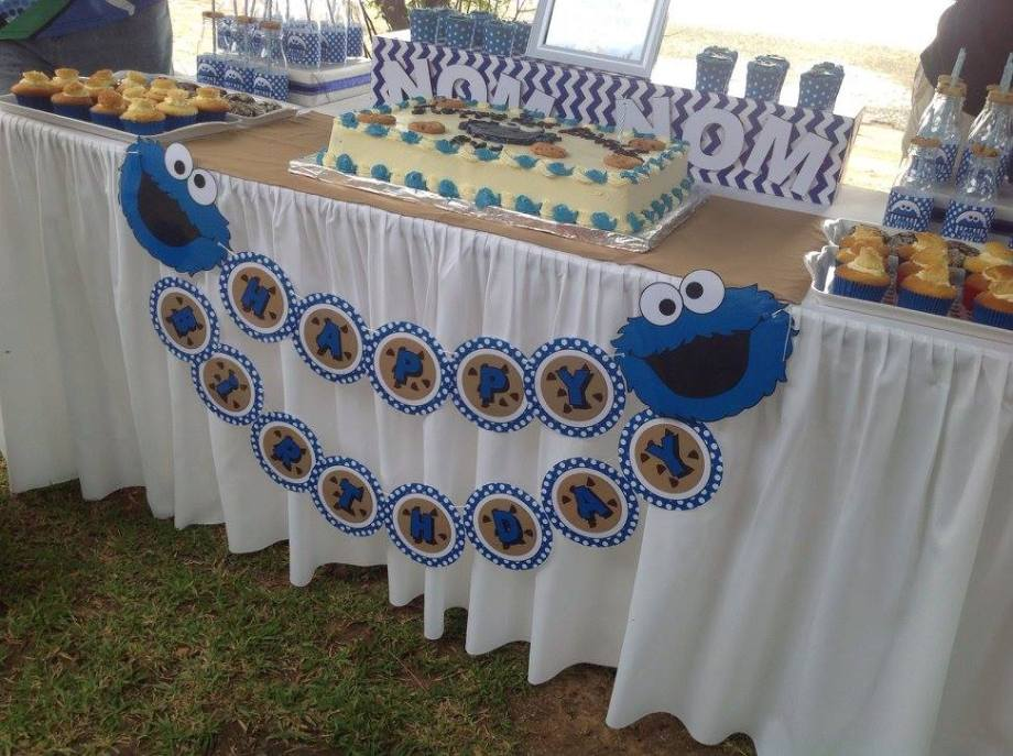 Cookie Monster Sesame street party ideas