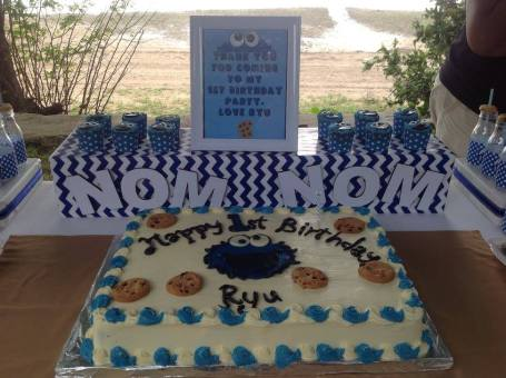 Cookie Monster Sesame street party ideas3