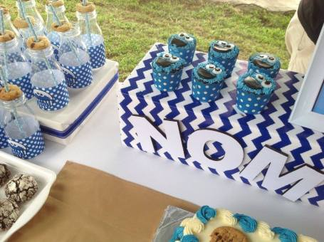 Cookie Monster Sesame street party ideas5
